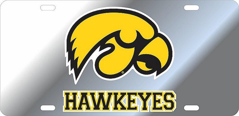 Iowa Hawkeyes License Plate Silver 12645