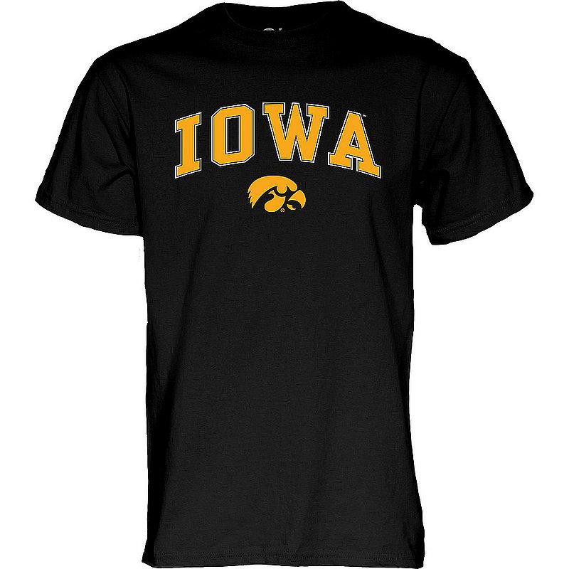 Iowa Hawkeyes TShirt Varsity Black Arch Over APC02969395*