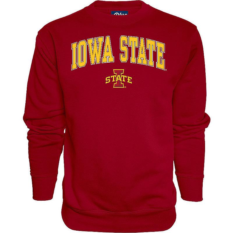 Iowa State Cyclones Crewneck Sweatshirt Varsity Cardinal Arch Over APC02971700*