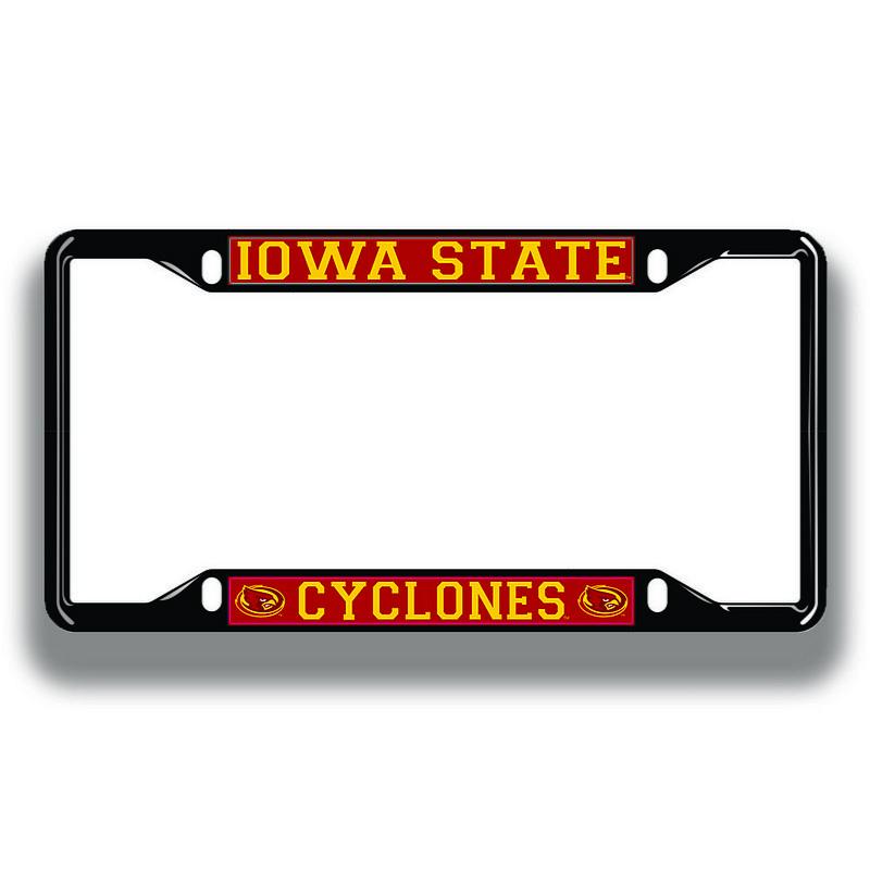 Iowa State Cyclones License Plate Frame Black 13665