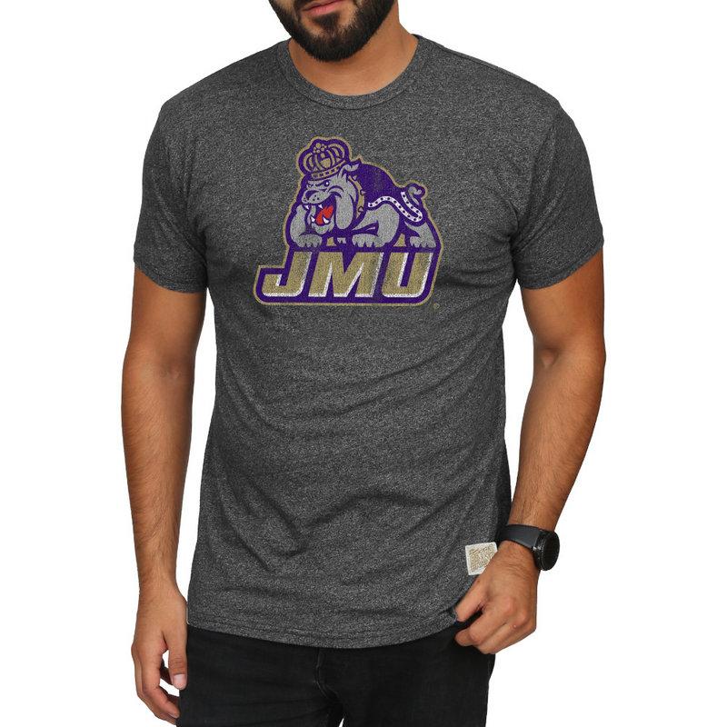 James Madison Dukes Retro TShirt Charcoal CJMU075A_MTCH