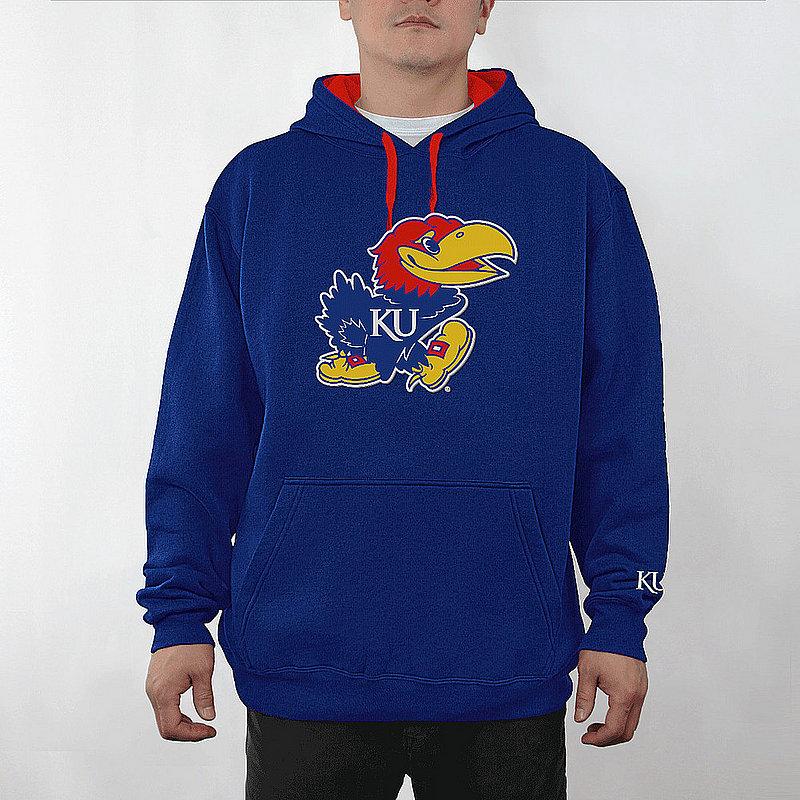 Kansas Jayhawks Hooded Sweatshirt Captain Blue KAN28417