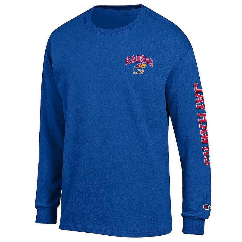 Kansas Jayhawks Long Sleeve TShirt Letterman Blue APC02981156/APC02973744