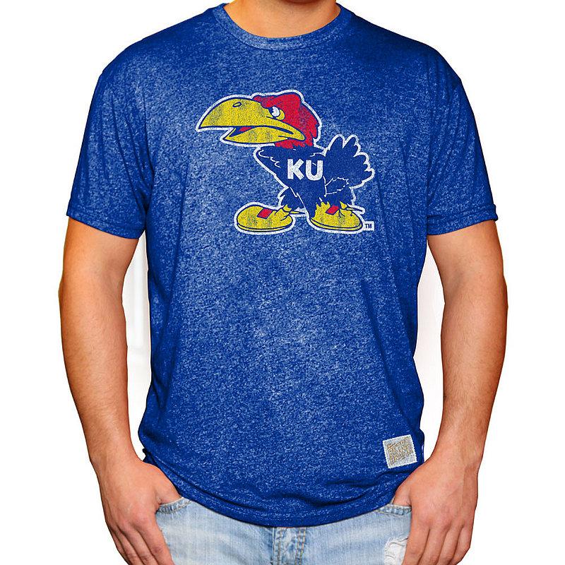 Kansas Jayhawks Retro Tshirt Blue RB124
