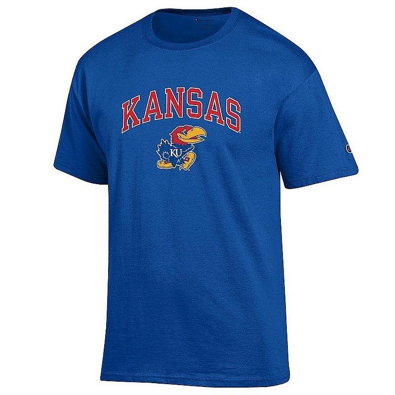 Kansas Jayhawks TShirt Varsity Blue Arch Over APC02961877*