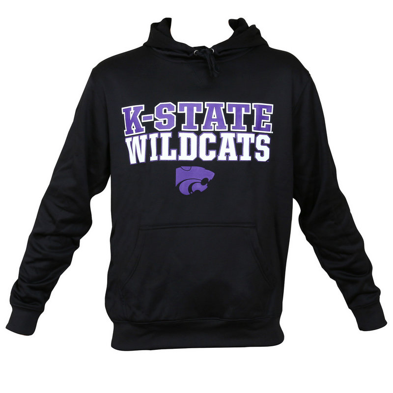 Kansas State University Performance Hooded Sweatshirt Black
