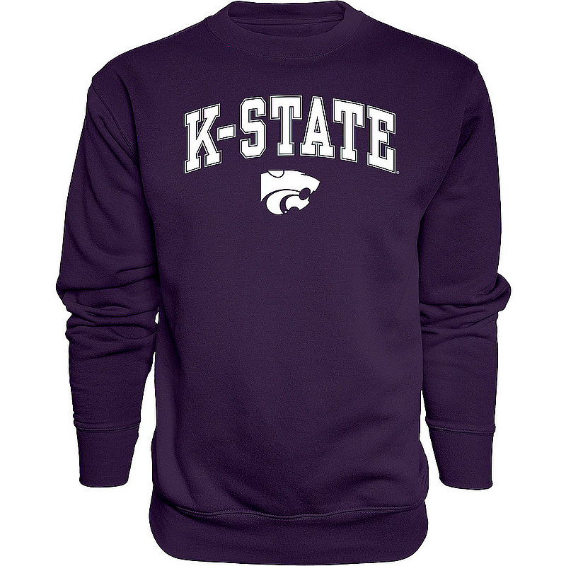Kansas State Wildcats Crewneck Sweatshirt Varsity Purple Arch Over APC02961881*