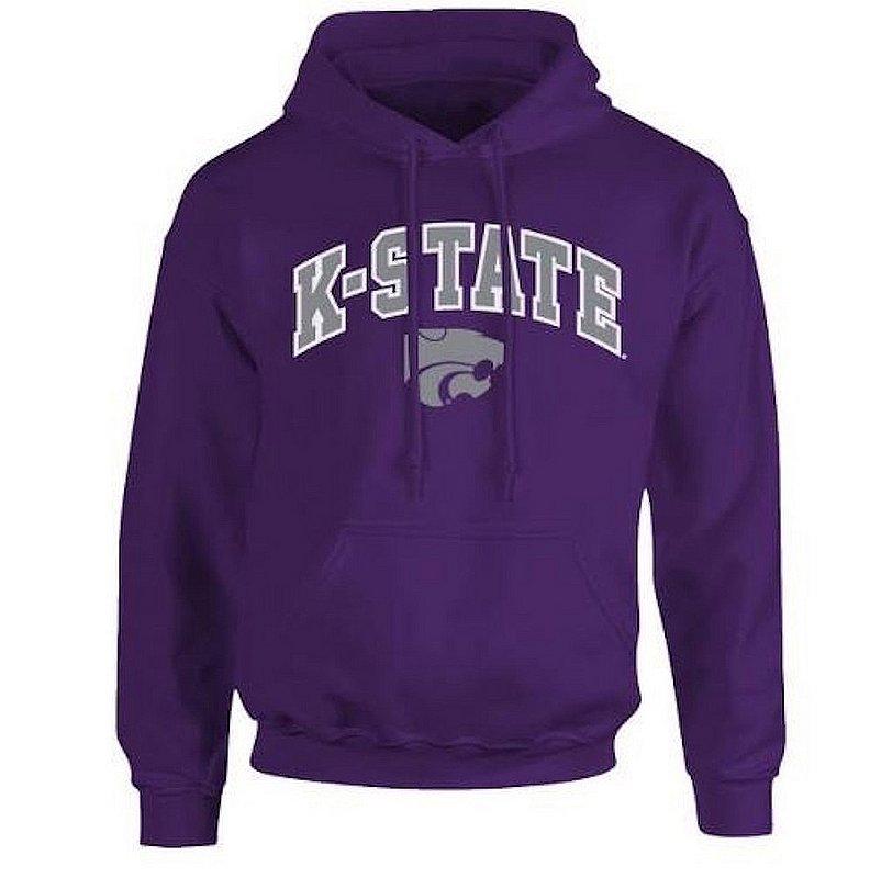 Kansas State Wildcats Hooded Sweatshirt Arch Purple P0008346