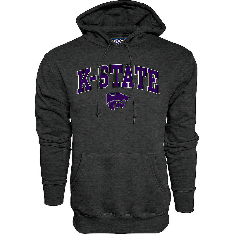 Kansas State Wildcats Hooded Sweatshirt Varsity Charcoal Arch Over APC02986224*