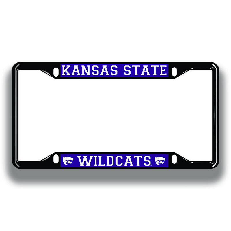 Kansas State Wildcats License Plate Frame Black 21258