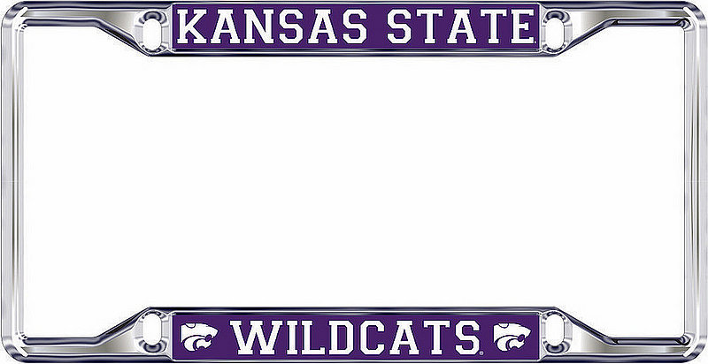 Kansas State Wildcats License Plate Frame Silver 21257