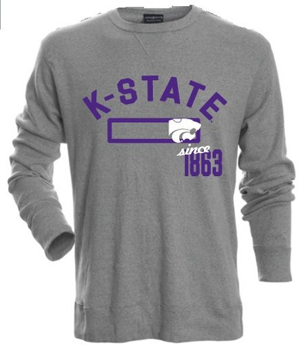 Kansas State Wildcats Long Sleeve Shirt Heather Gray