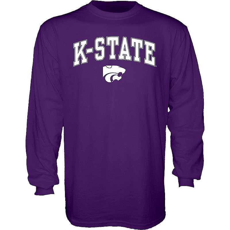 Kansas State Wildcats Long Sleeve TShirt Varsity Purple Arch Over APC02961881*