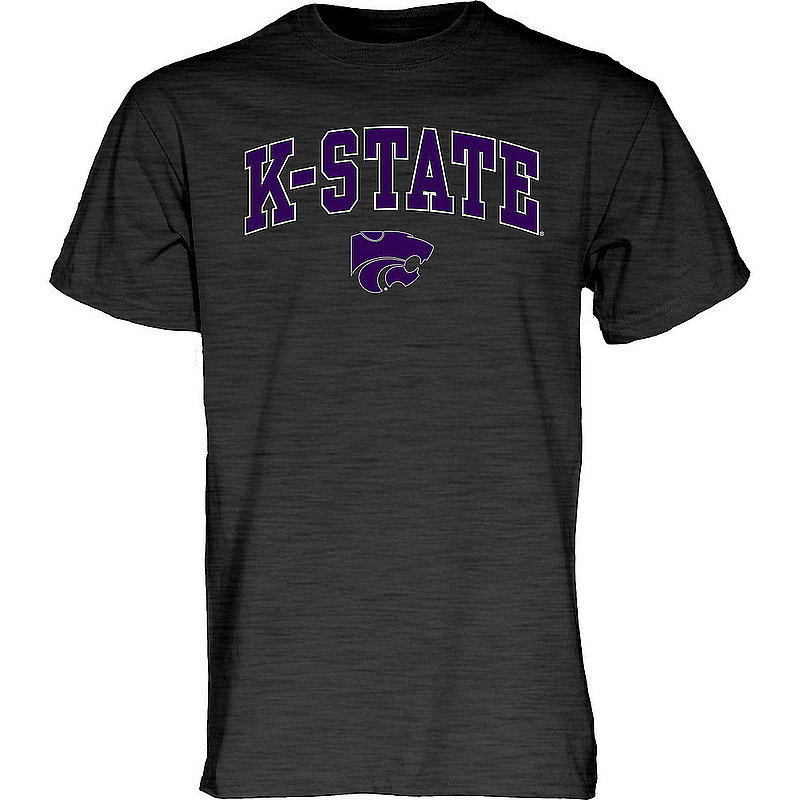 Kansas State Wildcats TShirt Varsity Charcoal Arch Over APC02986224*