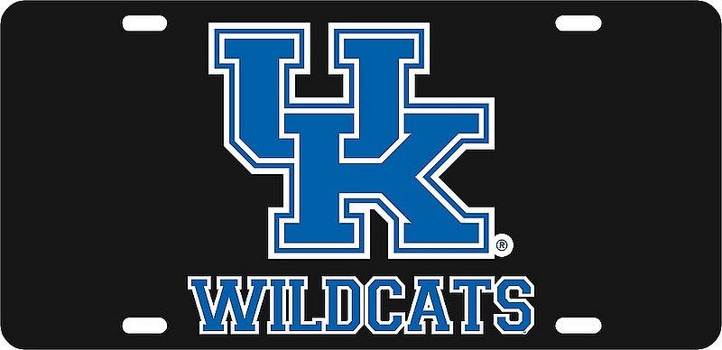 Kentucky Wildcats License Plate Black 20936