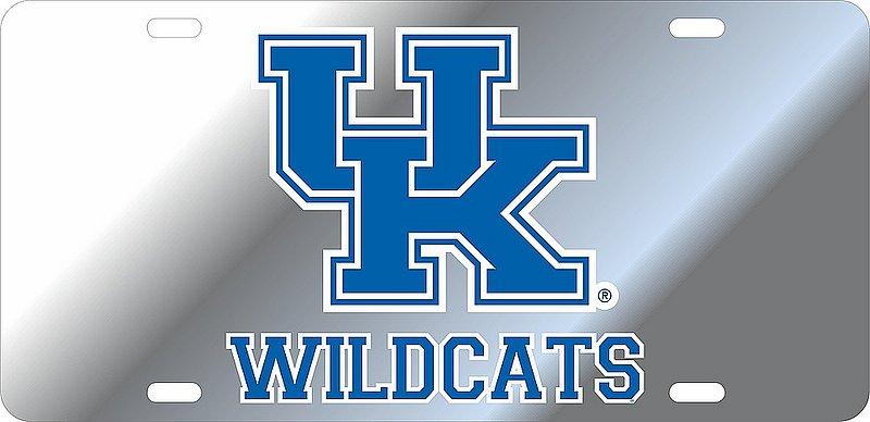 Kentucky Wildcats License Plate Silver 20935