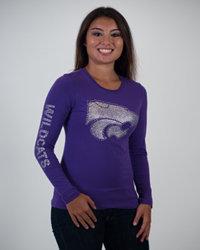 KState Wildcats Womens Juniors Long Sleeve Shirt Taylor