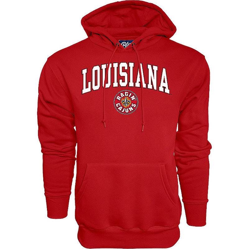 Louisiana Ragin' Cajuns Hooded Sweatshirt Vermilion Arch Over BCRDP