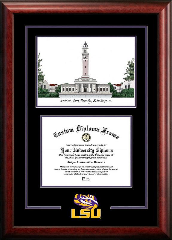 Louisiana State University Spirit Graduate Frame With Lithograph DSCI-la999sg