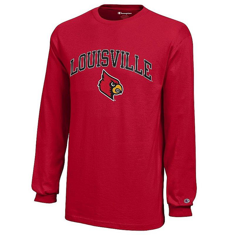 Louisville Cardinals Kids Long Sleeve TShirt Arch Red APC03009012