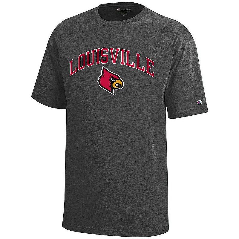 Louisville Cardinals Kids TShirt Arch Charcoal APC03014083