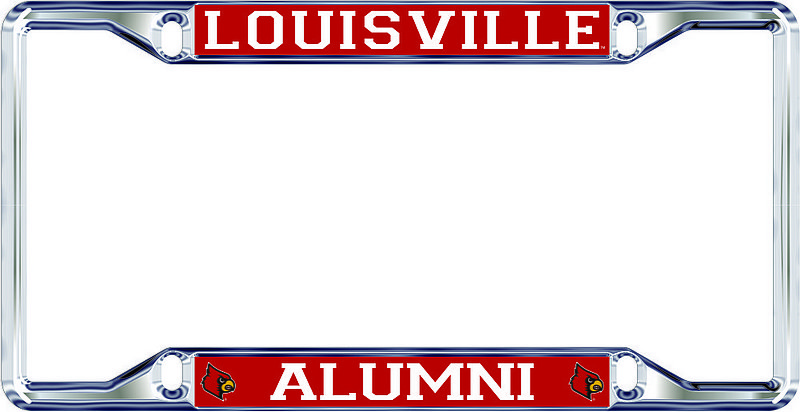 Louisville Cardinals License Plate Frame Alumni 36754