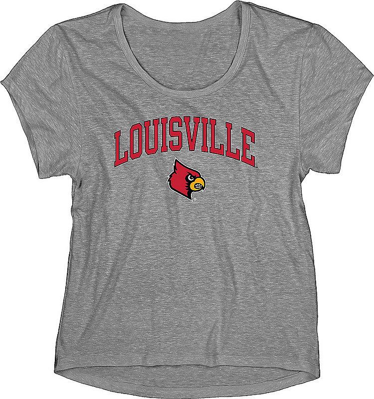 Louisville Cardinals Womens TriBlend Tshirt Gray C7JZ-LTBT