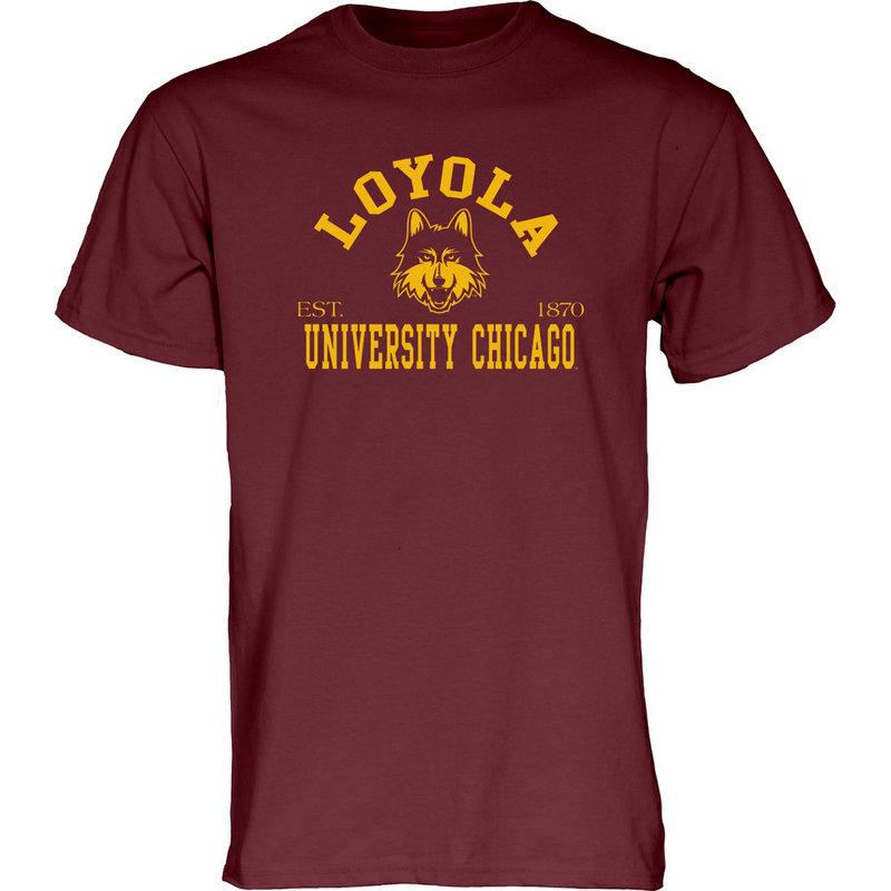 Loyola University Chicago Ramblers TShirt Arch Maroon UPSTANDING-LUC