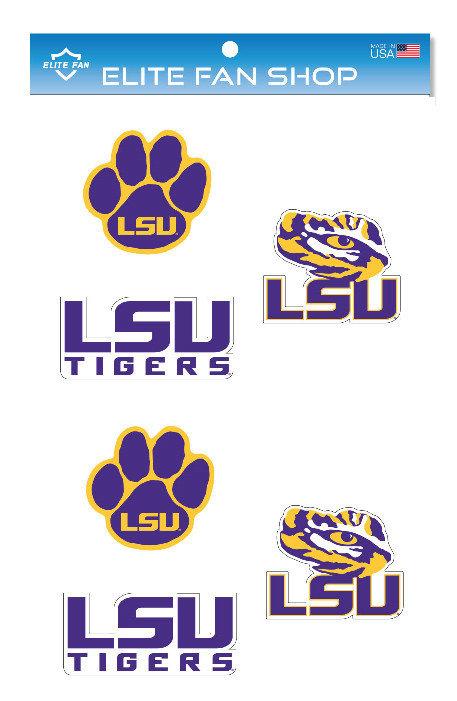 """LSU Tigers 3"""" Vinyl Decal 6-Pack"""