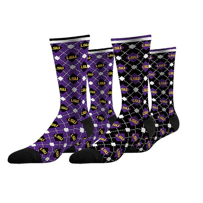 LSU Tigers Argyle Sock 2-Pack