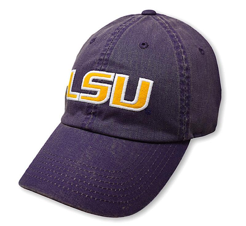 LSU Tigers Icon Purple Hat DPAT-LAST-ADJ-TMC6