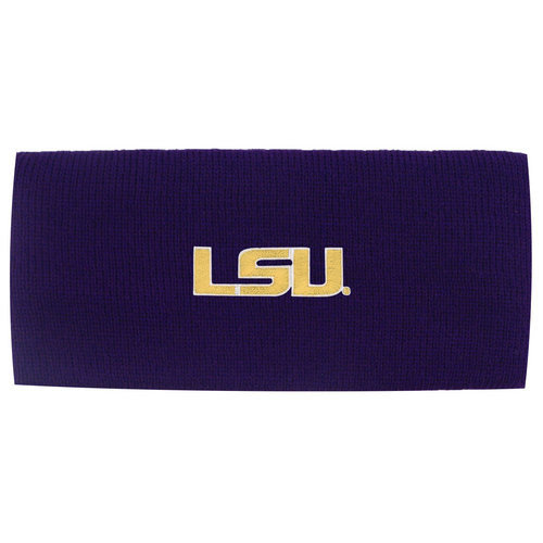 LSU Tigers Knit Winter Head Band Purple
