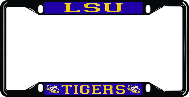 LSU Tigers License Plate Frame Black 37438