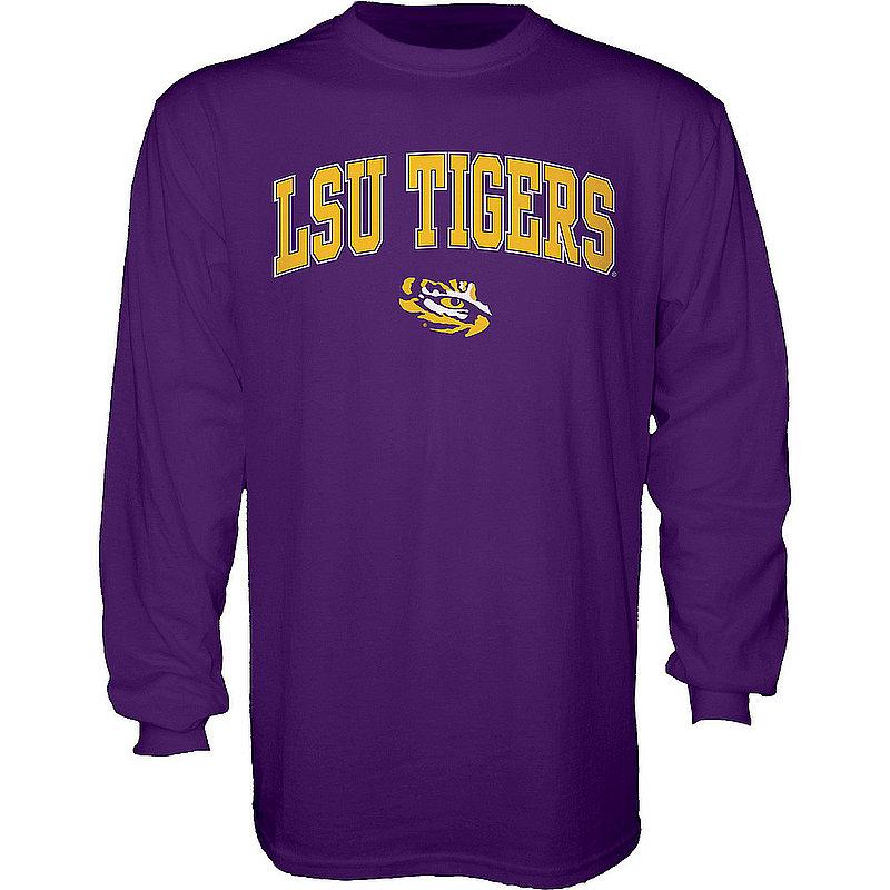LSU Tigers Long Sleeve Tshirt Varsity Purple Arch Over BCRMF