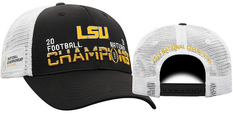 LSU Tigers National Championship Champs Hat 2019 - 2020 Black Snapback LSU TAG	CFBPG-CFBPC-20C-TA2A