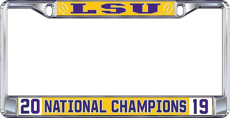 LSU Tigers National Championship Champs License Plate Frame 2019 - 2020 37443