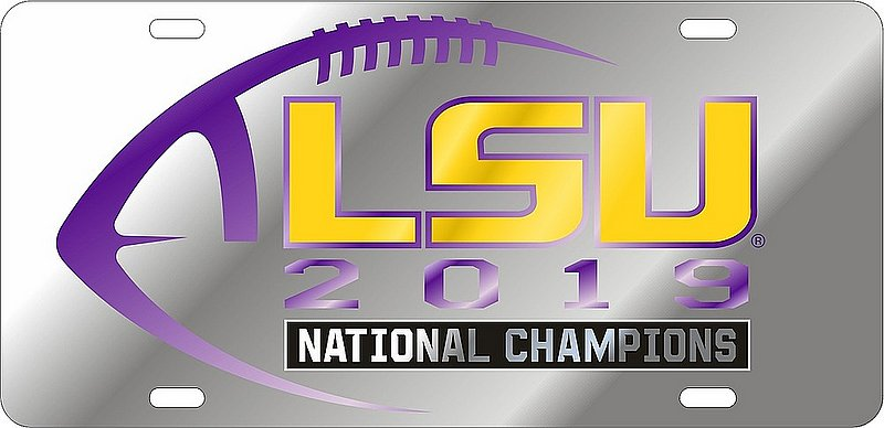 LSU Tigers National Championship Champs License Plate Tag 2019 - 2020 37440