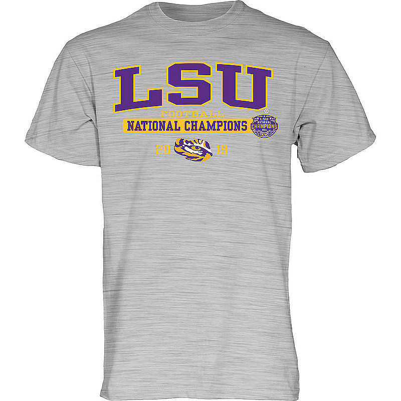 LSU Tigers National Championship Champs Tshirt 2019 - 2020 Bold Gray BIG-TALK-CFP19-NC_B3B2M_LSU