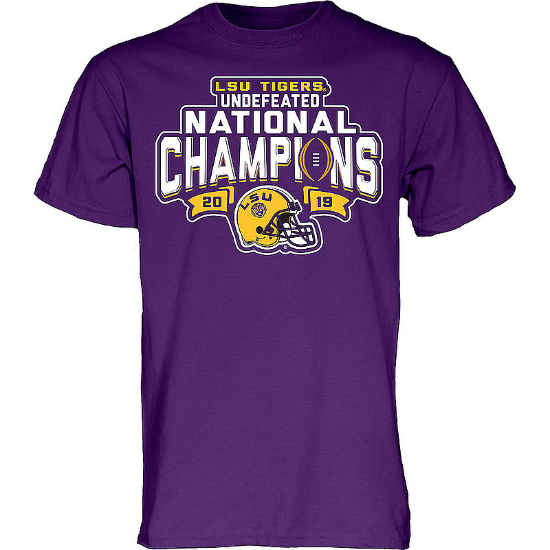 LSU Tigers National Championship Champs Tshirt 2019 - 2020 Football Purple GIVE-NOTICE-CFP19-NC-BJZXC-LSU