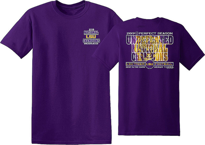 LSU Tigers National Championship Champs Tshirt 2019 - 2020 Special Purple NCFBCHP19SPECIALLSUGPR