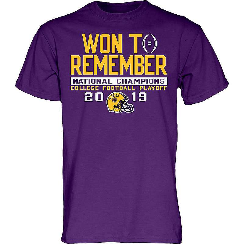LSU Tigers National Championship Champs Tshirt 2019 - 2020 Won To Remember HESITATION