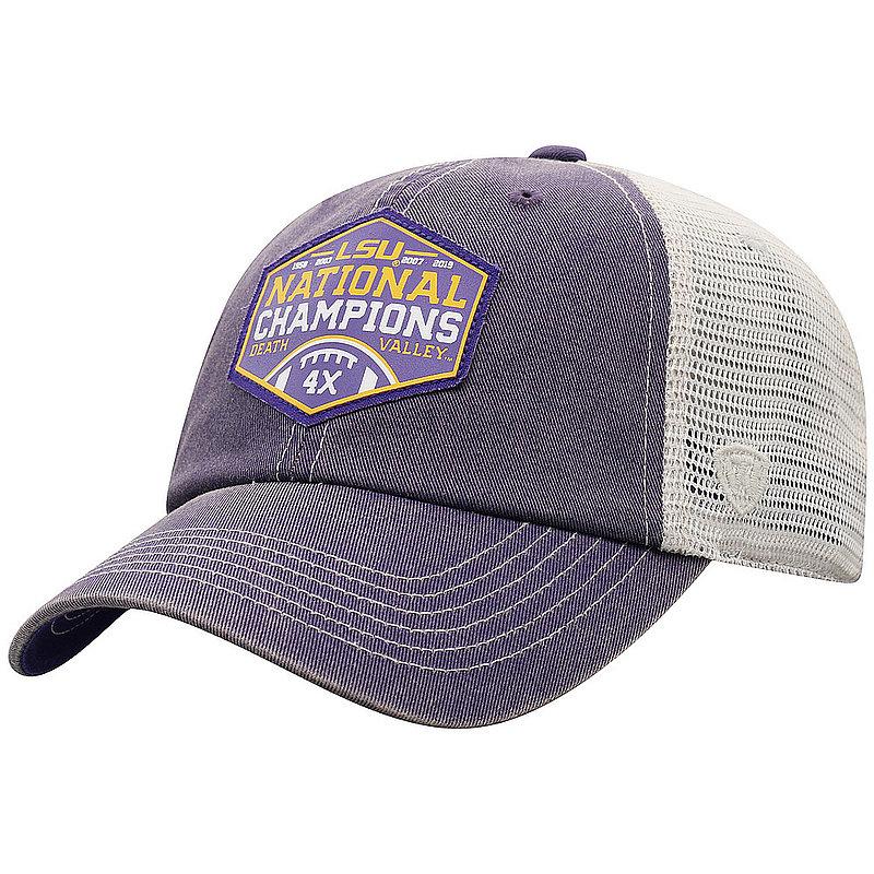 LSU Tigers National Champs Hat 2019 - 2020 Patch Purple PATCH MLTCP-LAST-19C-PA2*
