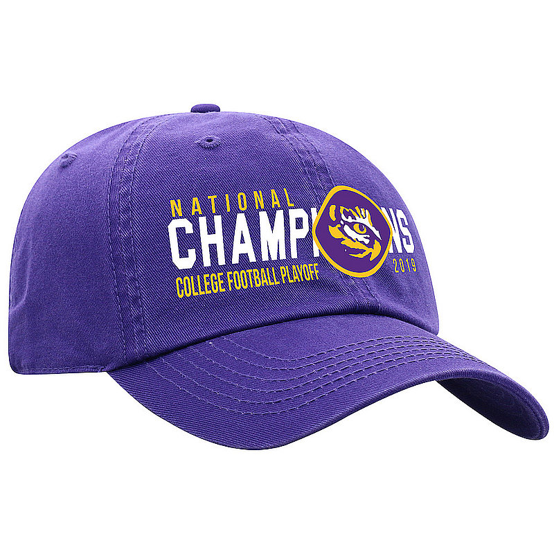 LSU Tigers National Champs Hat 2019 - 2020 Purple Logo LSU Purple Crew SPEED	CFBPG-CFBPC-19C-CA01 *