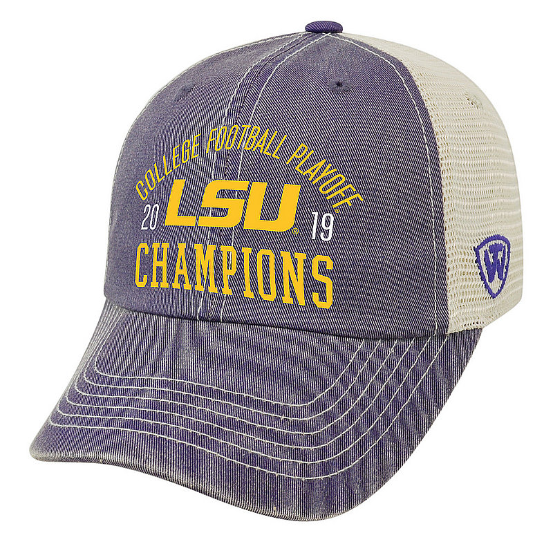 LSU Tigers National Champs Hat 2019 - 2020 Purple Vintage Arch LSU Purple DMSH TRADITION	CFBPG-CFBPC-19C-AA21 *