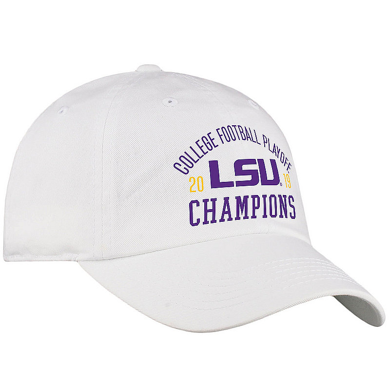 LSU Tigers National Champs Hat 2019 - 2020 White Arch LSU White Crew TRADITION	CFBPG-CFBPC-19C-AA31 *