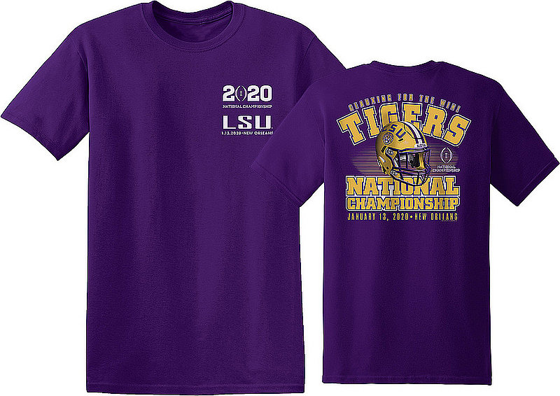 LSU Tigers National Champs Tshirt 2019-2020 Championship Bound Back 34032 CFPHM19 GOING LSU