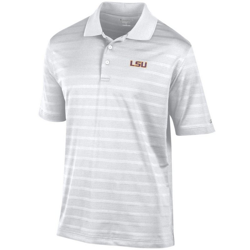 LSU Tigers Polo Shirt White aec03267322