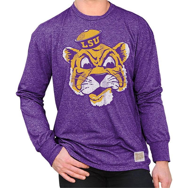 LSU Tigers Retro Long Sleeve TShirt Purple RB424