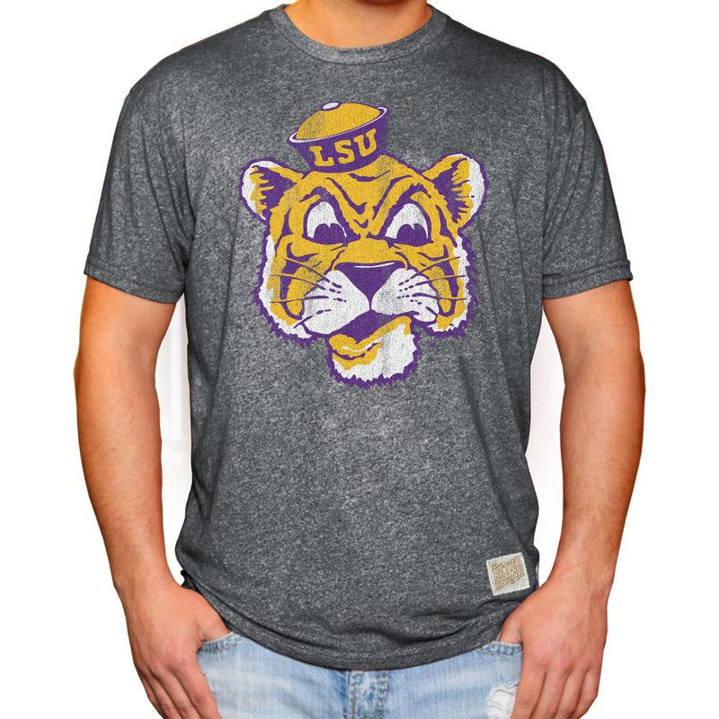LSU Tigers Retro TShirt Charcoal CLSU049A_MTCH