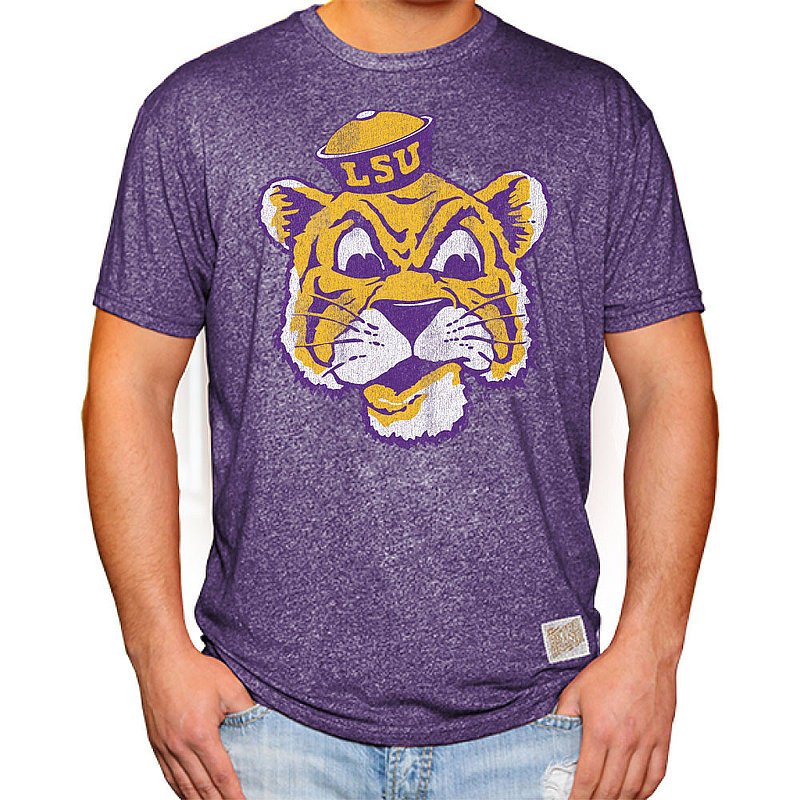 LSU Tigers Retro TShirt Purple RB124